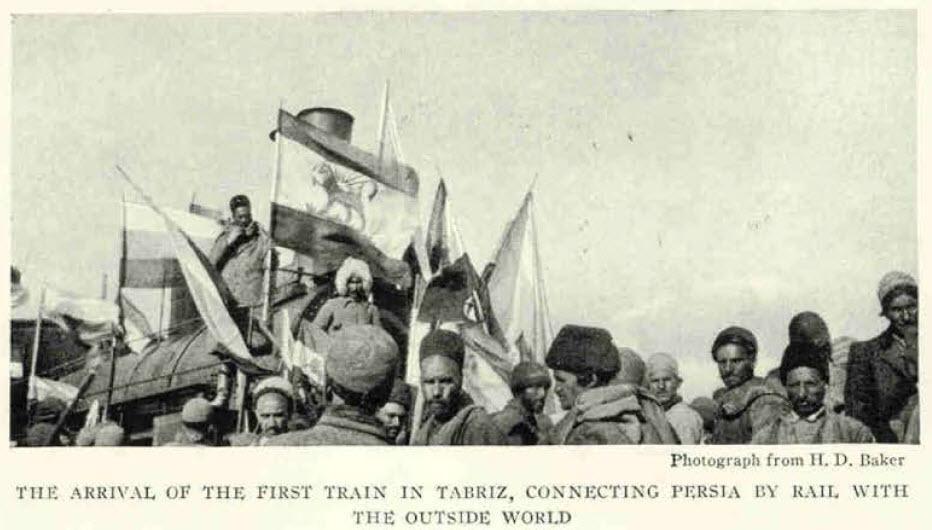 ورود نخستین قطار به تبریز