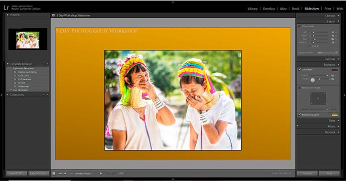 آموزش گام به گام ساخت اسلایدشو (Slideshow) در لایتروم